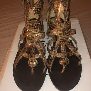 Snakeskin gladiator Sandal size 9.5